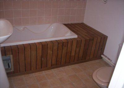 coffrage en bois de baignoire