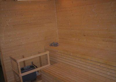 intérieur bois d'un sauna